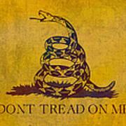 don t tread on me gadsden flag patriotic emblem on worn distressed