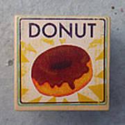 Donut Wood Block Art Print