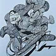Doodle - 02 Art Print