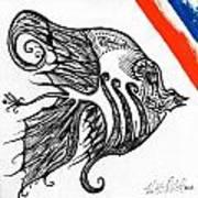Doodle Eye. Art Print