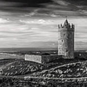 Doonagore Castle Black And White Art Print