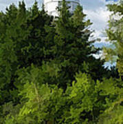 Door County Cana Island Vertical Panorama Art Print