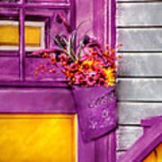 Door - Lavender Print by Mike Savad