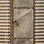 Door On An Old Metal Silo Art Print