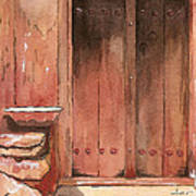 Door Series - Door 11 - Village Of Albanayeh Near Natanz Art Print