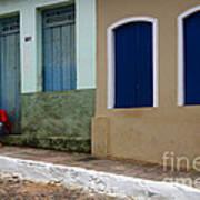 Doors And Windows Lencois Brazil 3 Art Print