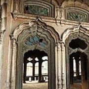 Doors And Windows - Umar Hayat Mahal Art Print by Murtaza Humayun Saeed
