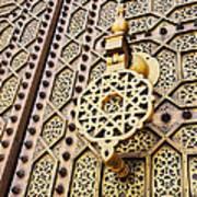 Doors Of The Hassan Mosque In Rabat Art Print