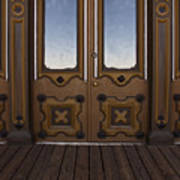 Doors To The Old West Art Print