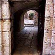Doorway In Old City Jerusalem Art Print