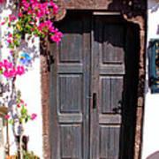 Doorway Oia Santorini Greek Islands Art Print