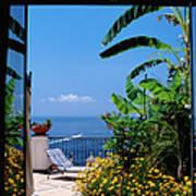 Doorway To Terrace At Hotel Punta Art Print