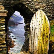 Doorway To The Sea Art Print