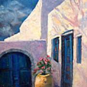 Doorway_greece Art Print