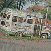 Doodlebugs Bus Art Print