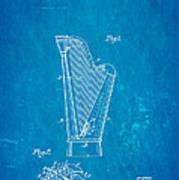 Dopyera Harp Patent Art 1930 Blueprint Art Print