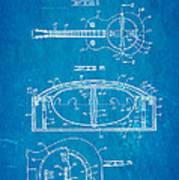 Dopyera Resonator Guitar Patent Art 1936 Blueprint Art Print