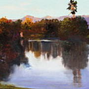 Dorado Waterhole Oil Art Print