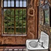 Dormer And Bathroom Print by Susan Candelario