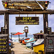 Dory Fishing Fleet Market Newport Beach California Print by Paul Velgos
