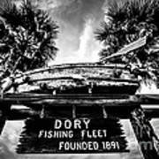 Dory Fishing Fleet Sign Picture In Newport Beach Art Print