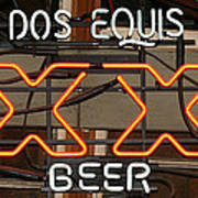 Dos Equis Texxas Beer Art Print