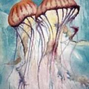 Dos Jellyfish Art Print