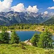 Doss Dei Gembri Lake In Pejo Valley Art Print