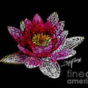 Dots Of Flowers Art Print