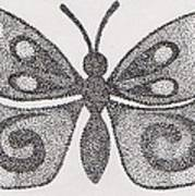 Dotted Butterfly Art Print