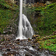 Double Falls In Silver Falls State Park In Oregon Art Print