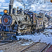 Double Header Nevada Northern Railway #1 Art Print