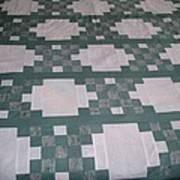 Double Irish Chain Quilt Art Print
