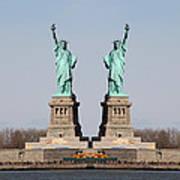 Double Libertys Art Print
