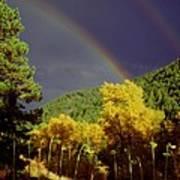 Double Rainbow Autumn Art Print
