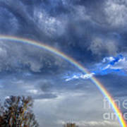Double Rainbow Over Mountain Art Print by Thomas R Fletcher
