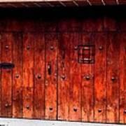 Double Studded Wood Doors Art Print