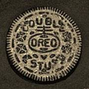 Double Stuff Oreo In Sepia Negitive Art Print