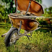 Double Wheelbarrow Art Print