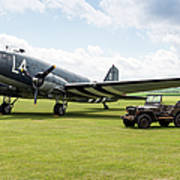 Douglas C-47a Skytrain Ready For D-day Art Print