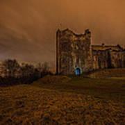 Doune Castle At Night Art Print