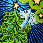 Dove And Christmas Tree Art Print