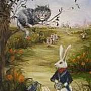 Down a Rabbit Hole Art Print