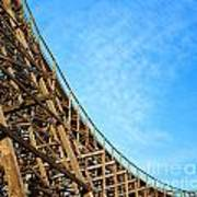 Down A Wooden Roller Coaster Ride Art Print