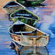 Down East Dories At Dawn Art Print