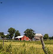 Down Home Amish Farm Art Print