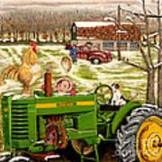 Down On The Farm Art Print by Chris Dreher