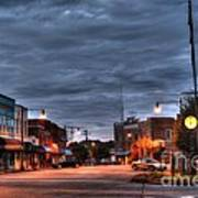 Down Town Granite Falls At Six Thirty In The Morning Art Print by Robert Loe