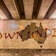 Down Under Map  Art Print