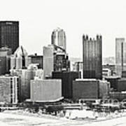 Cold Winter Day In Pittsburgh Pennsylvania Art Print